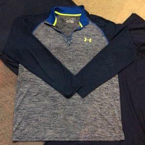 Men's Under Armour long sleeve half zip shirt